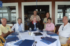 The gang at the Yacht Club for lunch