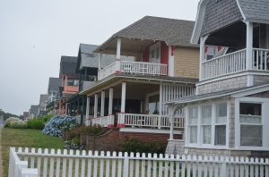 Houses around the green in Oak Bluffs
