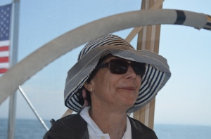 Janet at the helm