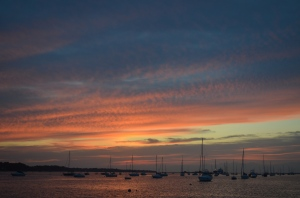 Sunset in Port Jefferson harbor