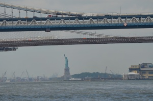 What a sight, just as we turned a bend in the East River