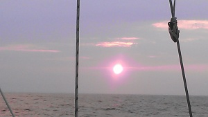 Sunrise in the Atlantic, Wednesday, July 10