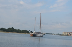 This lovely boat preceded us out of  Beaufort